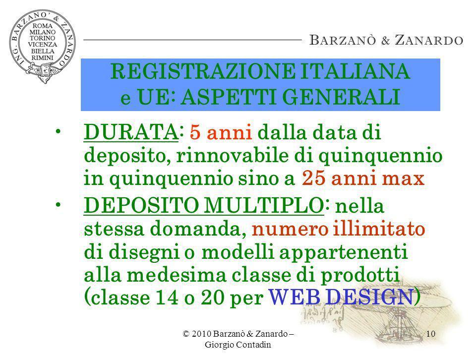 REGISTRAZIONE ITALIANA e UE: ASPETTI GENERALI