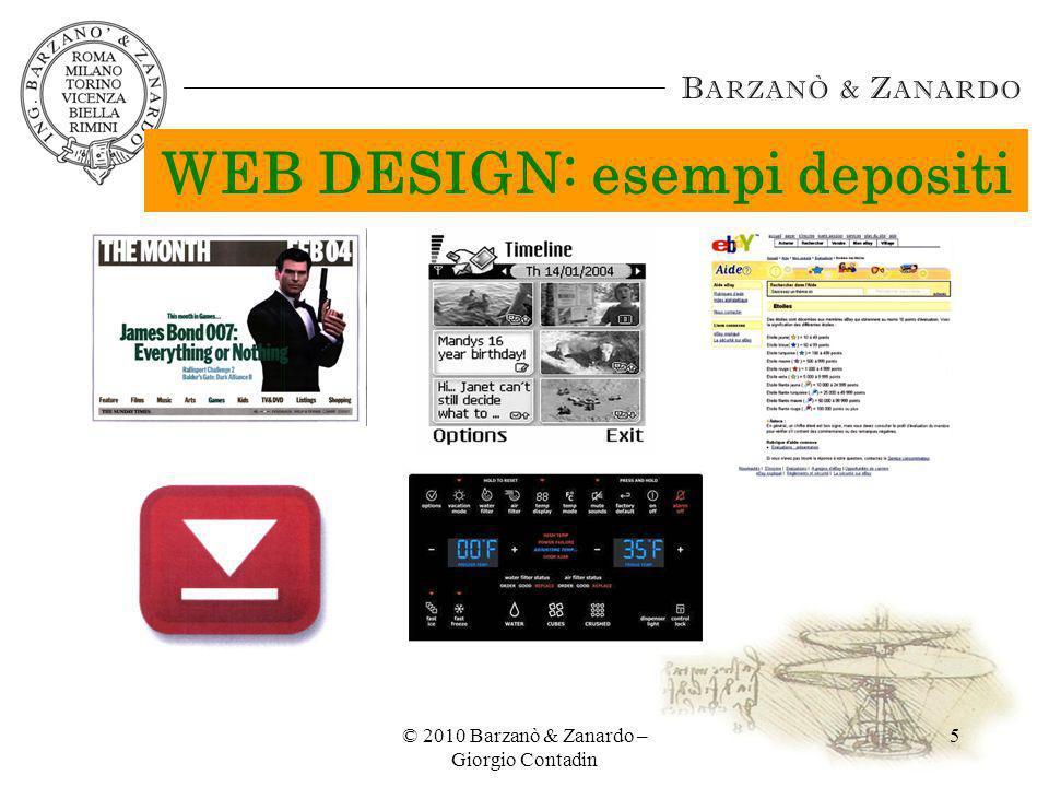WEB DESIGN: esempi depositi