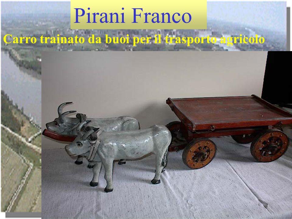 Pirani Franco Carro trainato da buoi per il trasporto agricolo