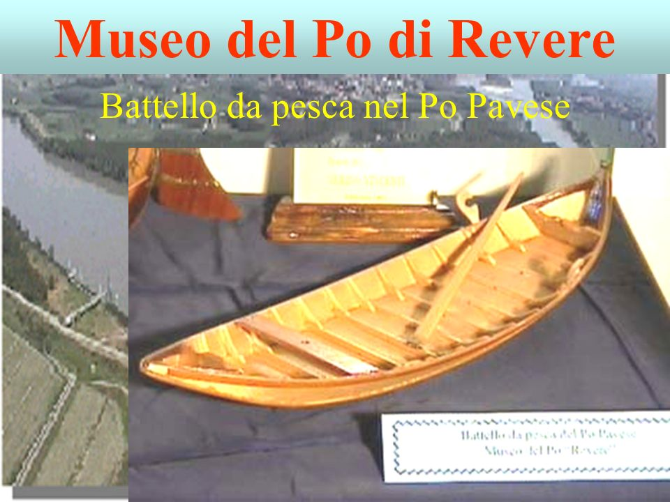 Battello da pesca nel Po Pavese