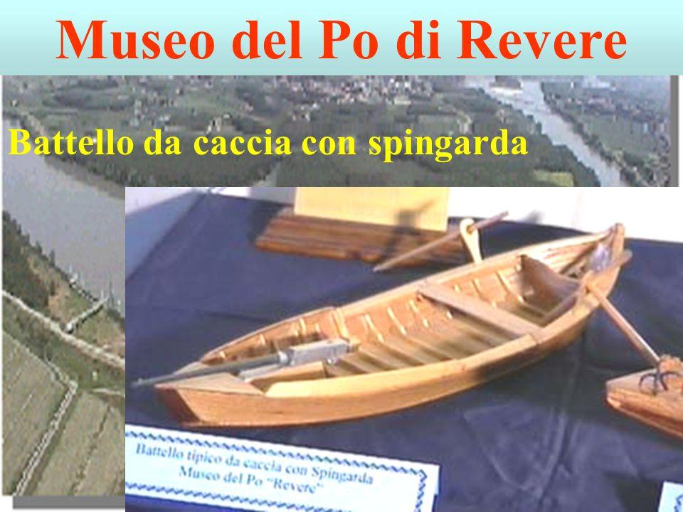 Museo del Po di Revere Battello da caccia con spingarda