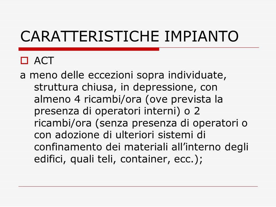 CARATTERISTICHE IMPIANTO