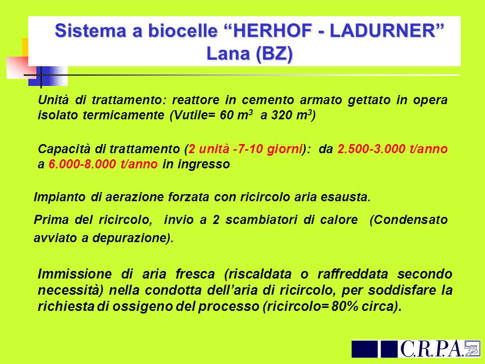 Sistema a biocelle HERHOF - LADURNER Lana (BZ)