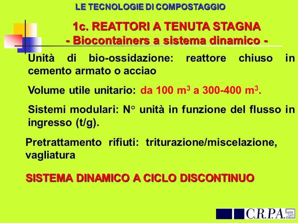 1c. REATTORI A TENUTA STAGNA - Biocontainers a sistema dinamico -