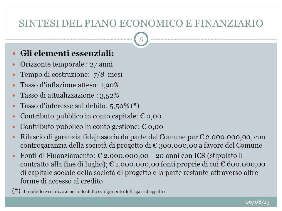 SINTESI DEL PIANO ECONOMICO E FINANZIARIO