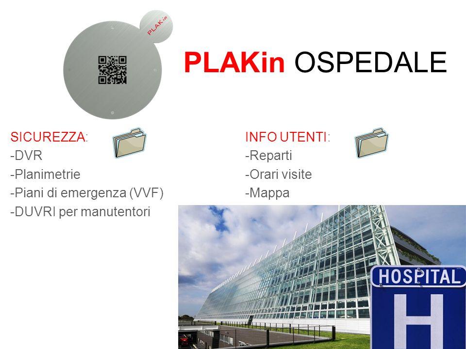 PLAKin OSPEDALE SICUREZZA: DVR Planimetrie Piani di emergenza (VVF)