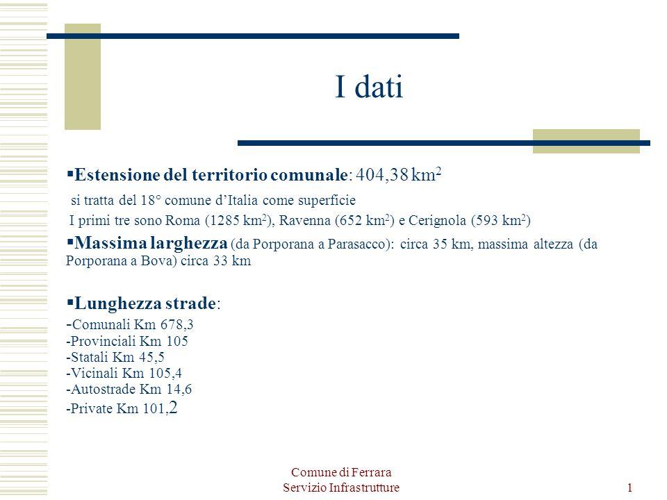 Comune di Ferrara Servizio Infrastrutture