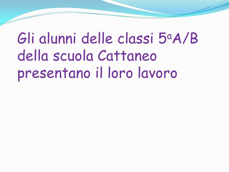Gli alunni delle classi 5aA/B della scuola Cattaneo presentano il loro lavoro