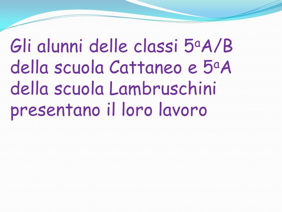 Gli alunni delle classi 5aA/B della scuola Cattaneo e 5aA della scuola Lambruschini presentano il loro lavoro