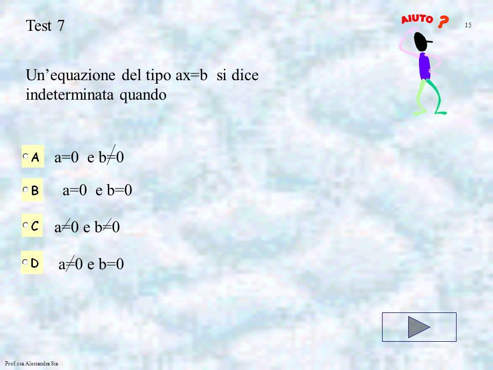 Un'equazione del tipo ax=b si dice indeterminata quando