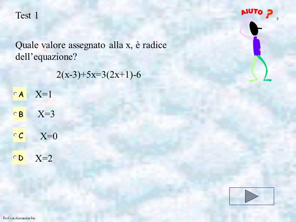 Quale valore assegnato alla x, è radice dell'equazione