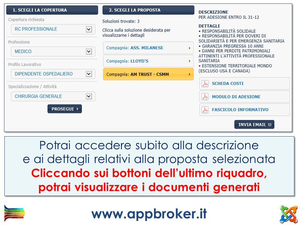 www.appbroker.it Potrai accedere subito alla descrizione