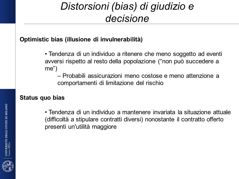Distorsioni (bias) di giudizio e decisione