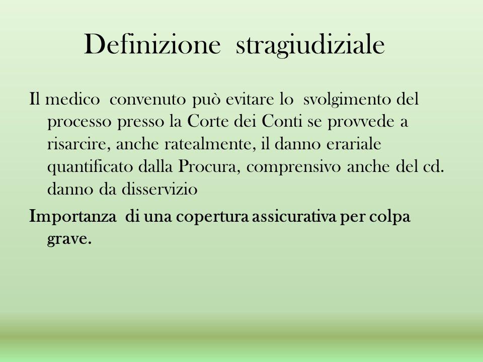 Definizione stragiudiziale
