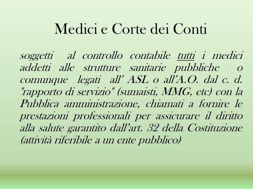 Medici e Corte dei Conti