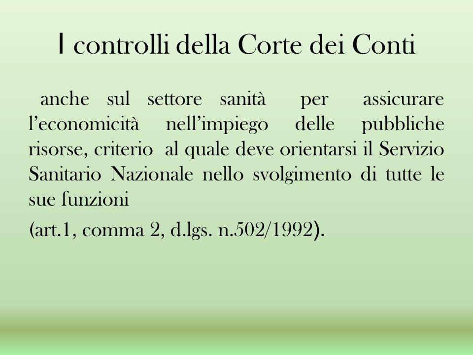 I controlli della Corte dei Conti