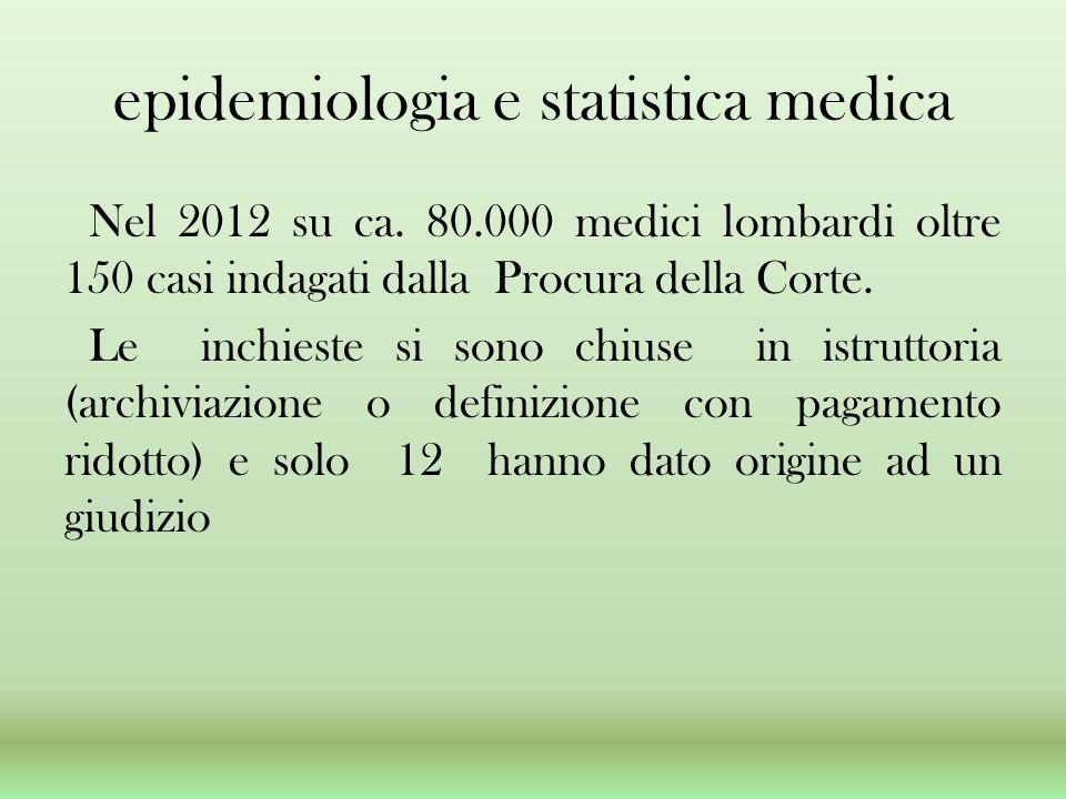 epidemiologia e statistica medica