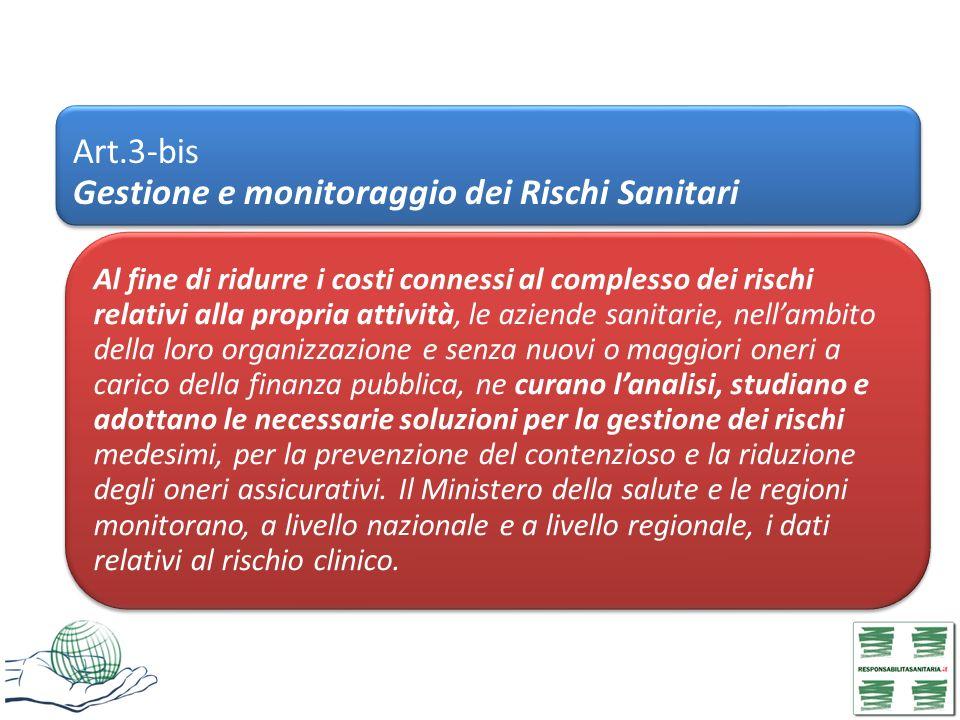 Art.3-bis Gestione e monitoraggio dei Rischi Sanitari