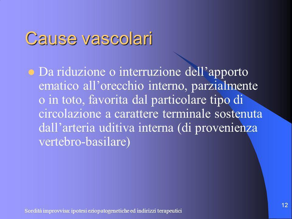 Cause vascolari