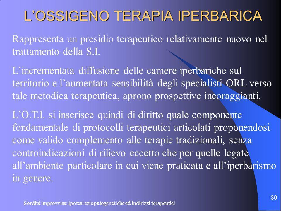 L'OSSIGENO TERAPIA IPERBARICA