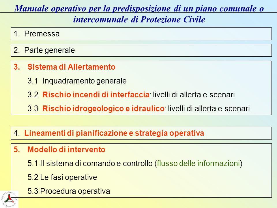 Manuale operativo per la predisposizione di un piano comunale o intercomunale di Protezione Civile