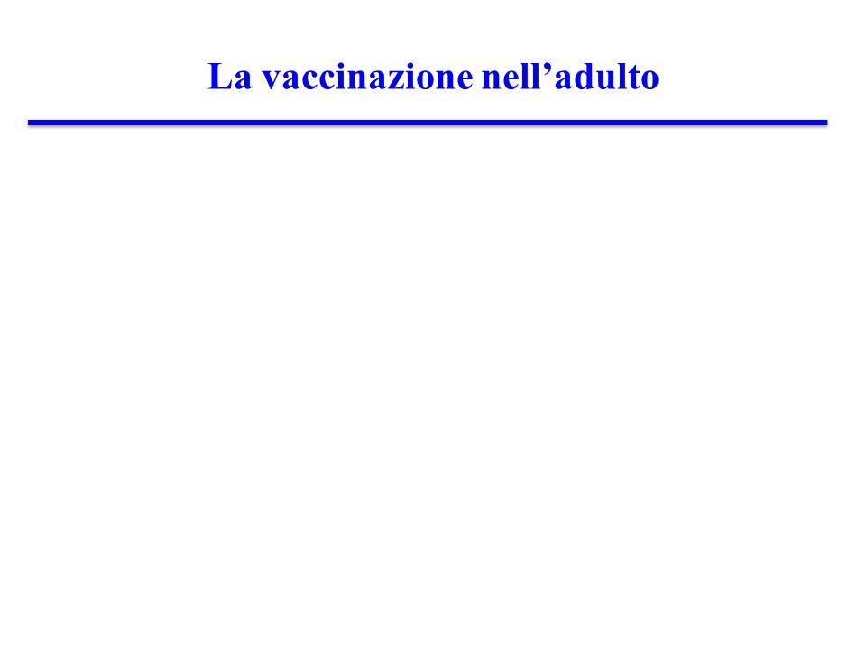 La vaccinazione nell'adulto