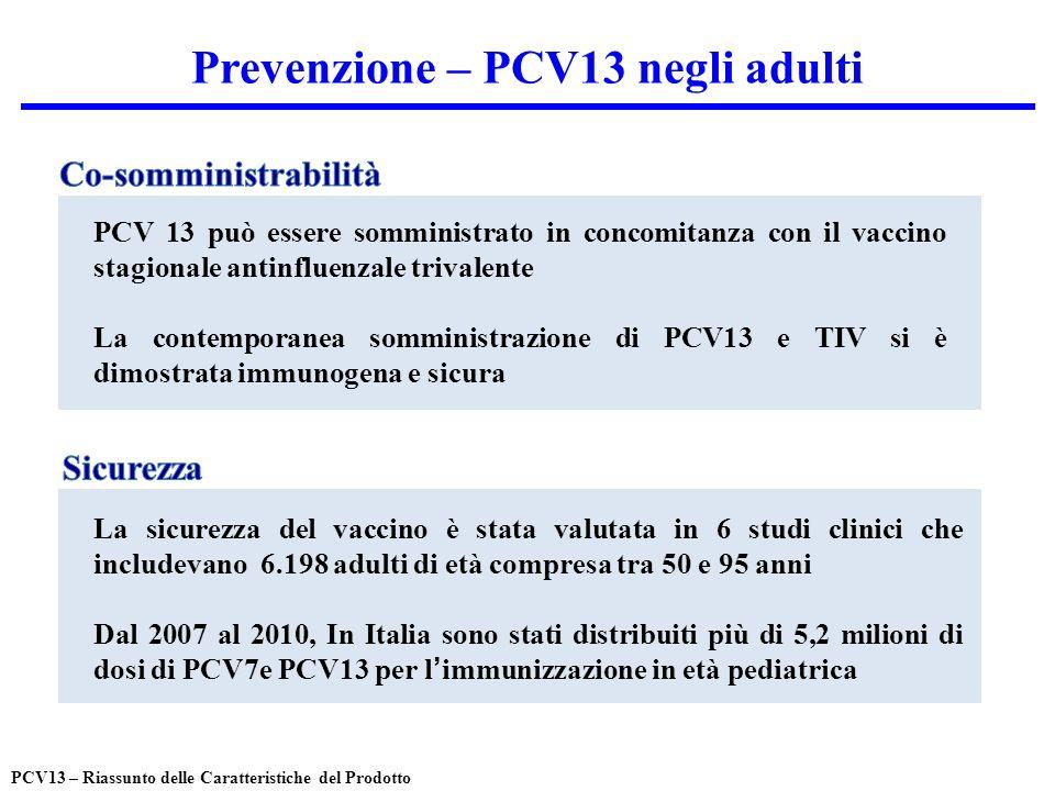 Prevenzione – PCV13 negli adulti