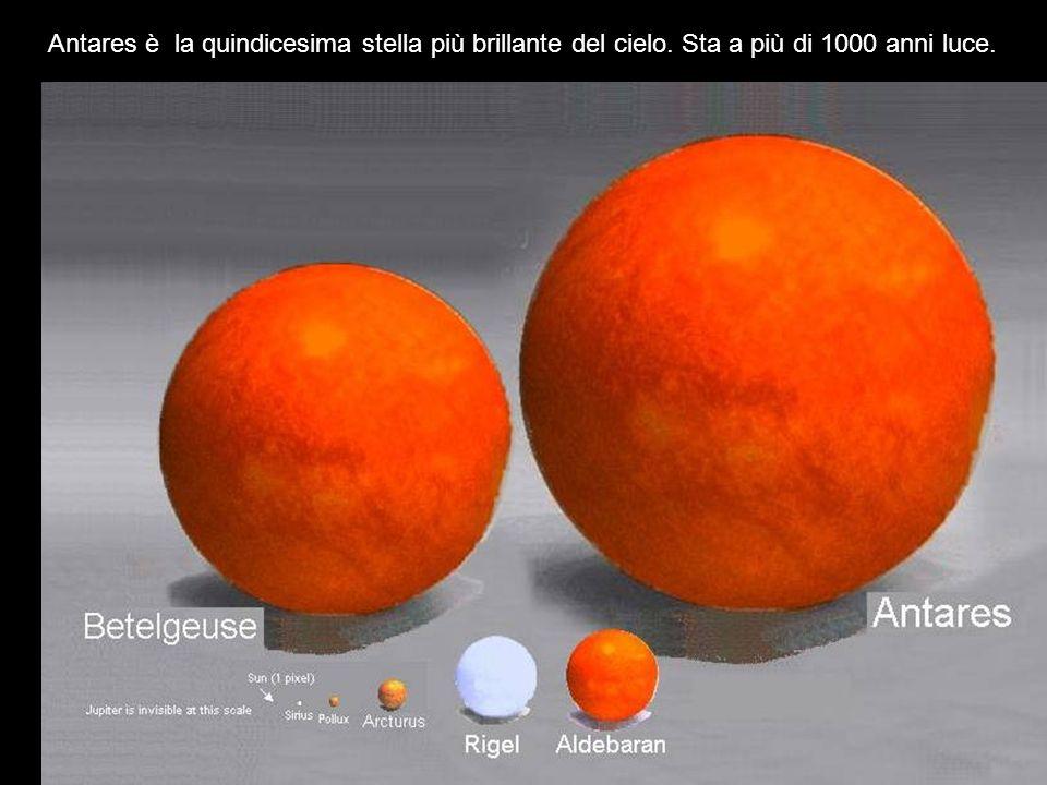 Antares è la quindicesima stella più brillante del cielo