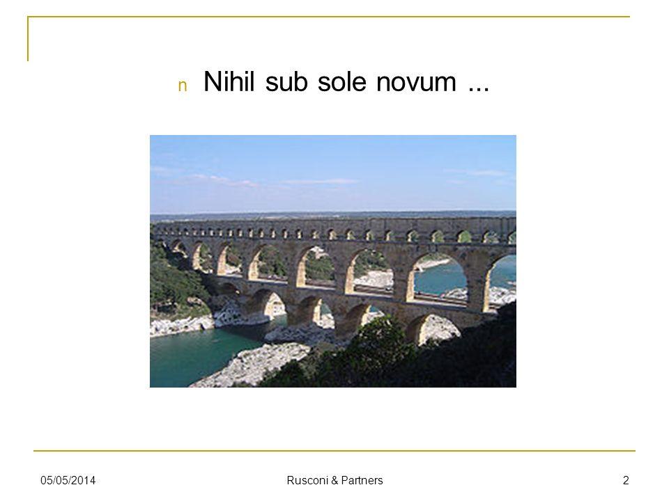 Nihil sub sole novum ... 29/03/2017 Rusconi & Partners