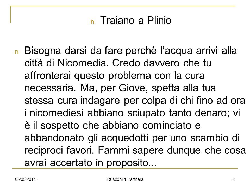Traiano a Plinio