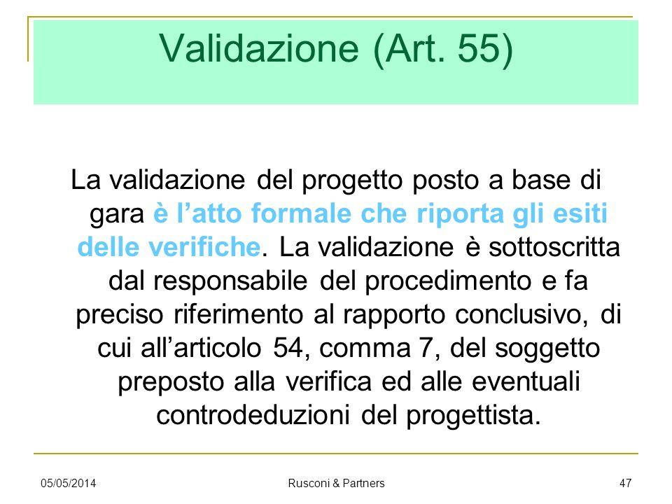 Validazione (Art. 55)
