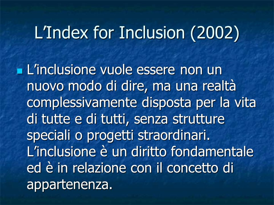 L'Index for Inclusion (2002)