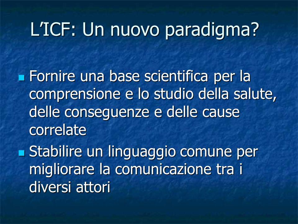 L'ICF: Un nuovo paradigma