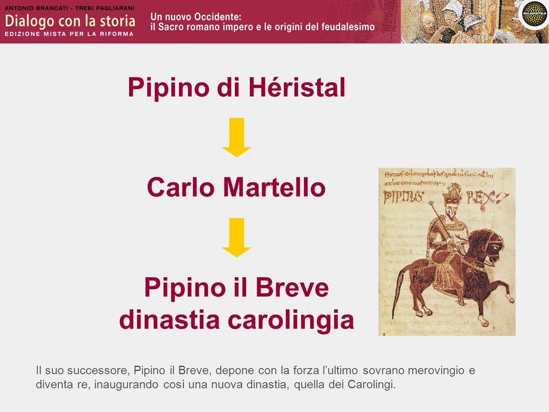 Pipino di Héristal Carlo Martello Pipino il Breve dinastia carolingia