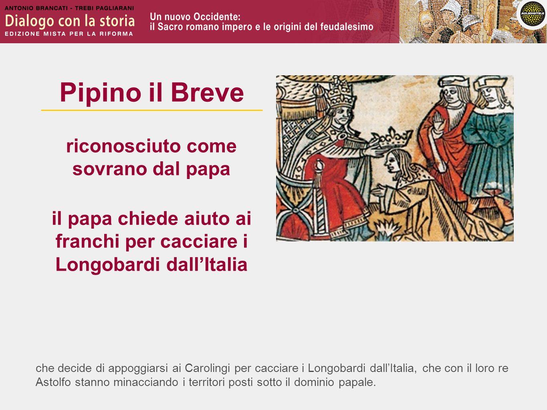 il papa chiede aiuto ai franchi per cacciare i Longobardi dall'Italia