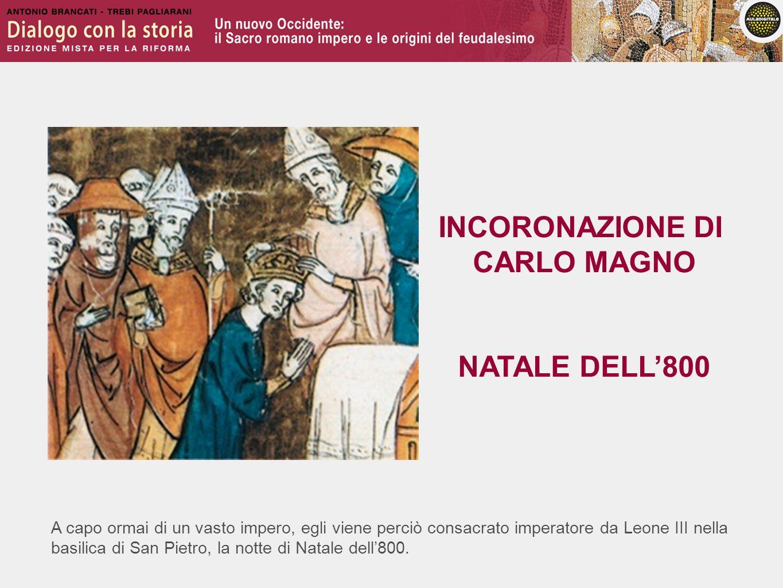 INCORONAZIONE DI CARLO MAGNO NATALE DELL'800
