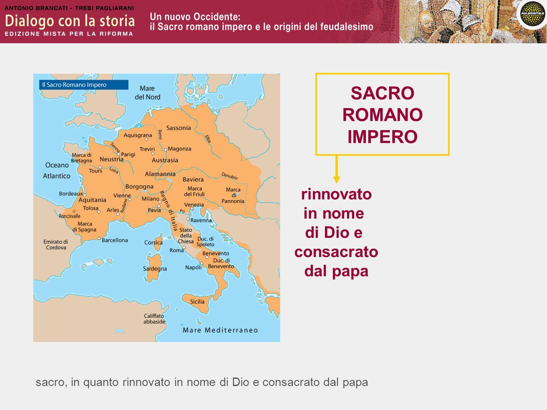 SACRO ROMANO IMPERO rinnovato in nome di Dio e consacrato dal papa
