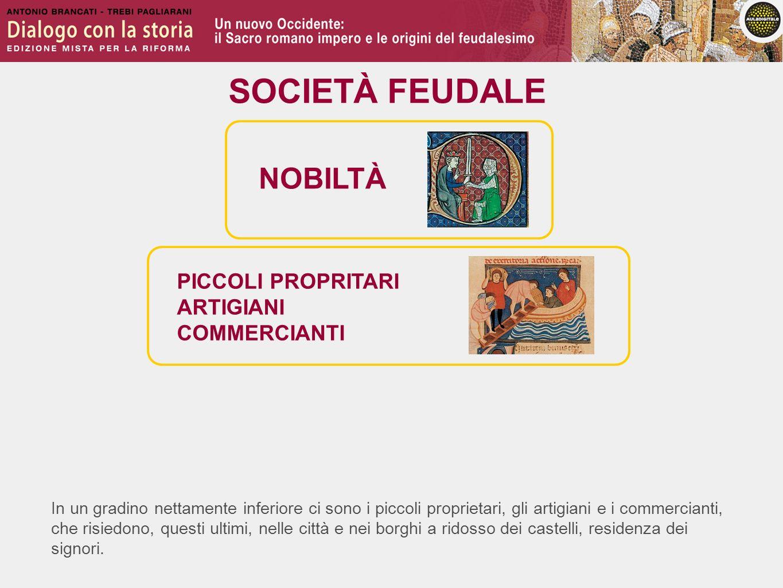 SOCIETÀ FEUDALE NOBILTÀ PICCOLI PROPRITARI ARTIGIANI COMMERCIANTI