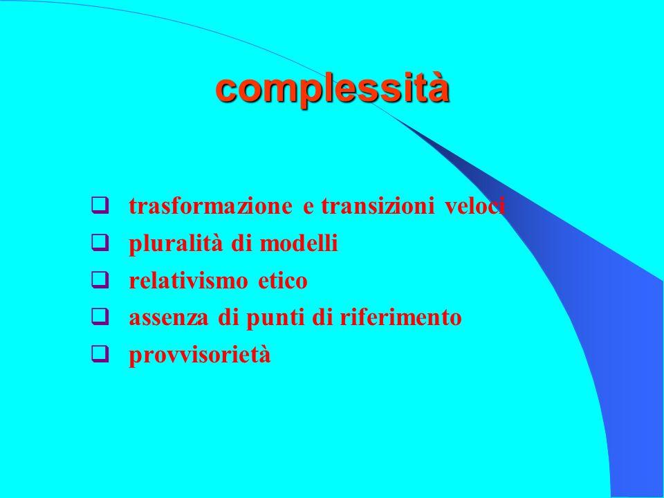 complessità trasformazione e transizioni veloci pluralità di modelli