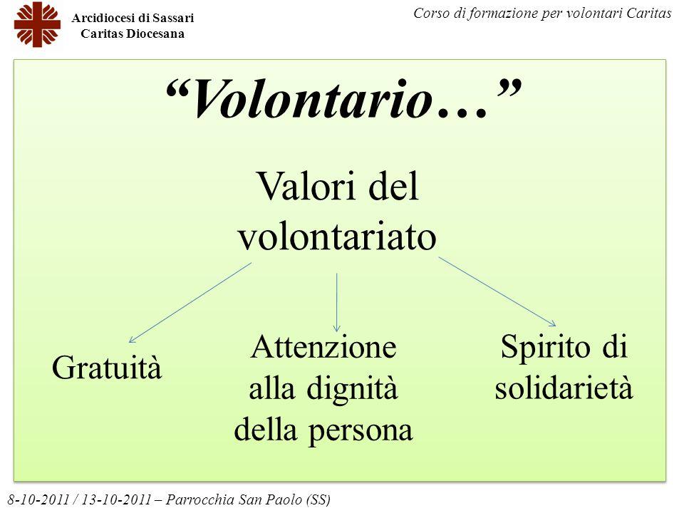 Volontario… Valori del volontariato