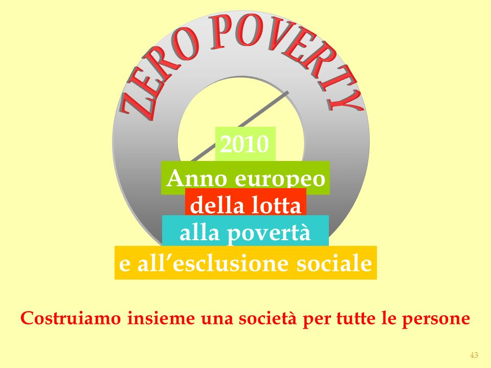 ZERO POVERTY alla povertà