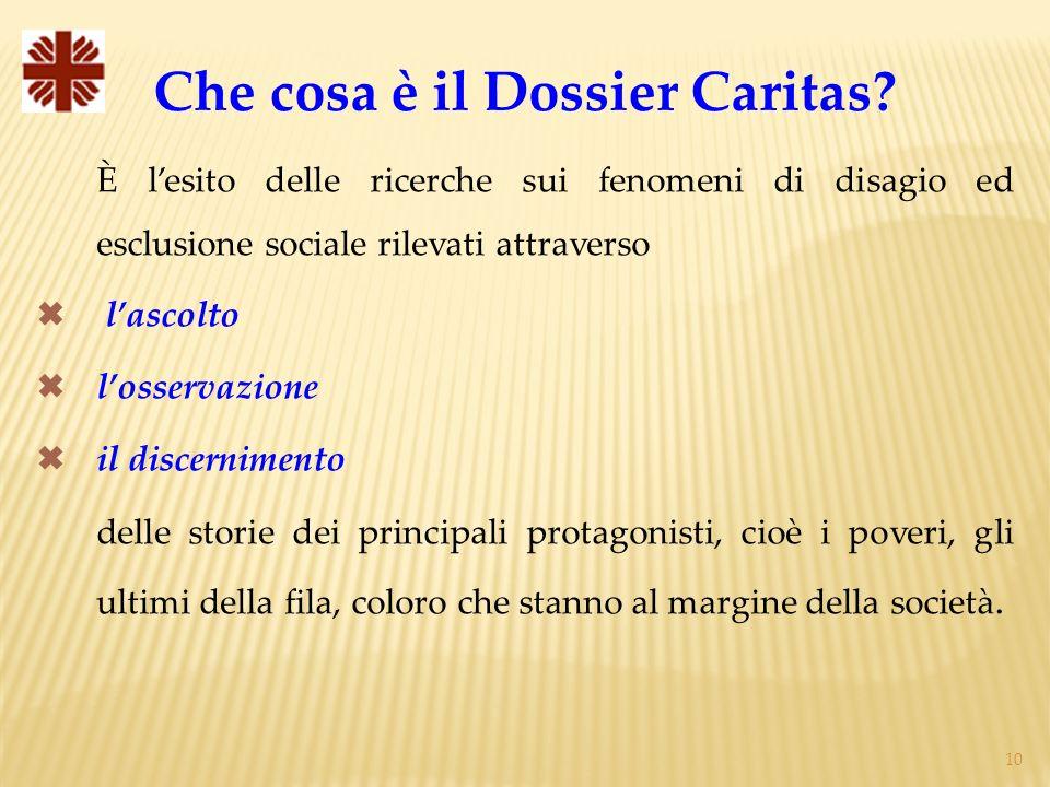 Che cosa è il Dossier Caritas