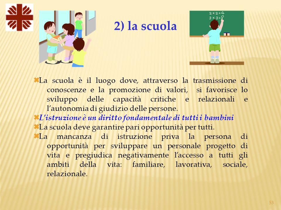 2) la scuola