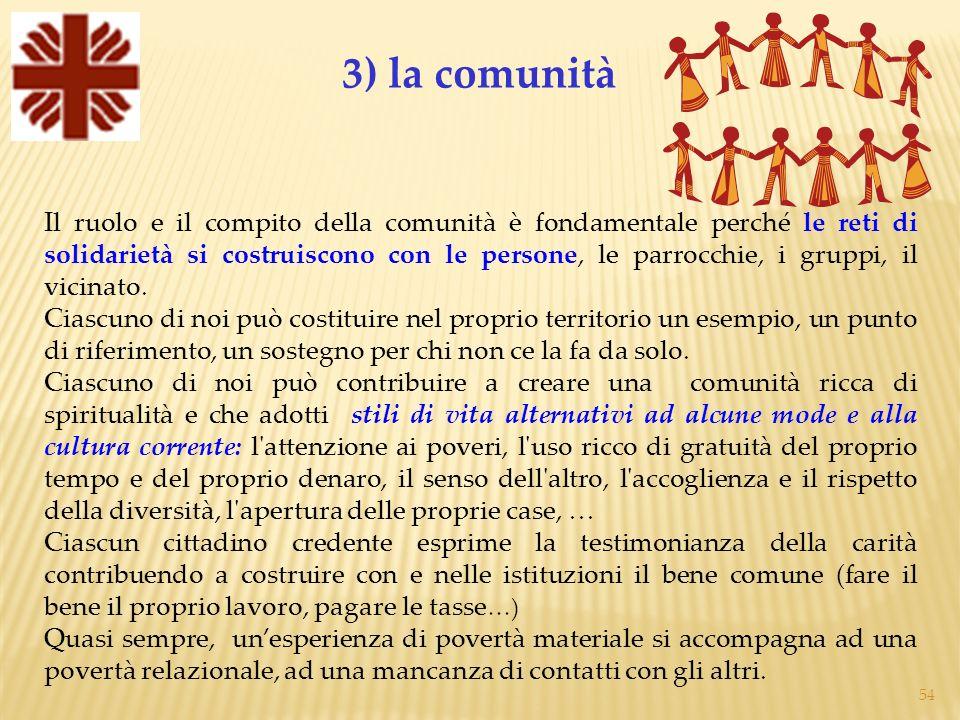 3) la comunità