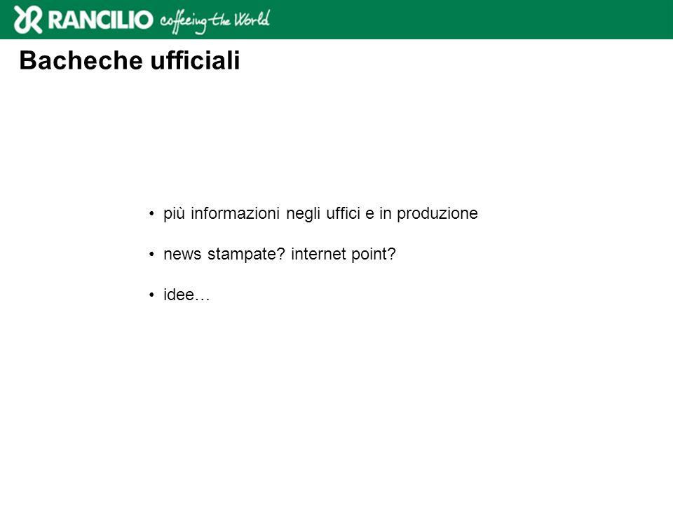 Bacheche ufficiali più informazioni negli uffici e in produzione