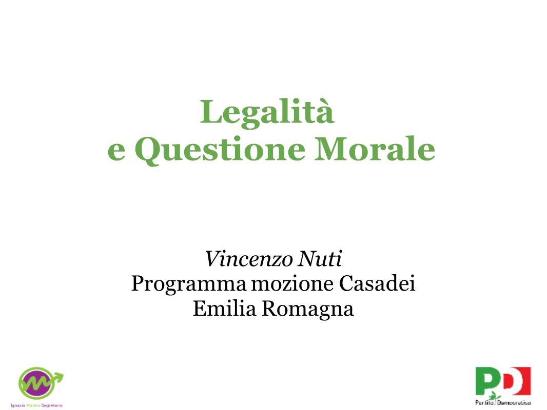 Legalità e Questione Morale