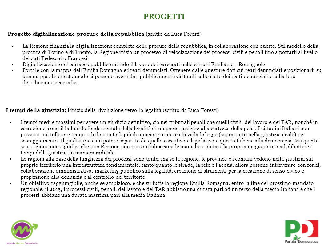 PROGETTIProgetto digitalizzazione procure della repubblica (scritto da Luca Foresti)