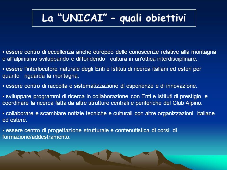 La UNICAI – quali obiettivi