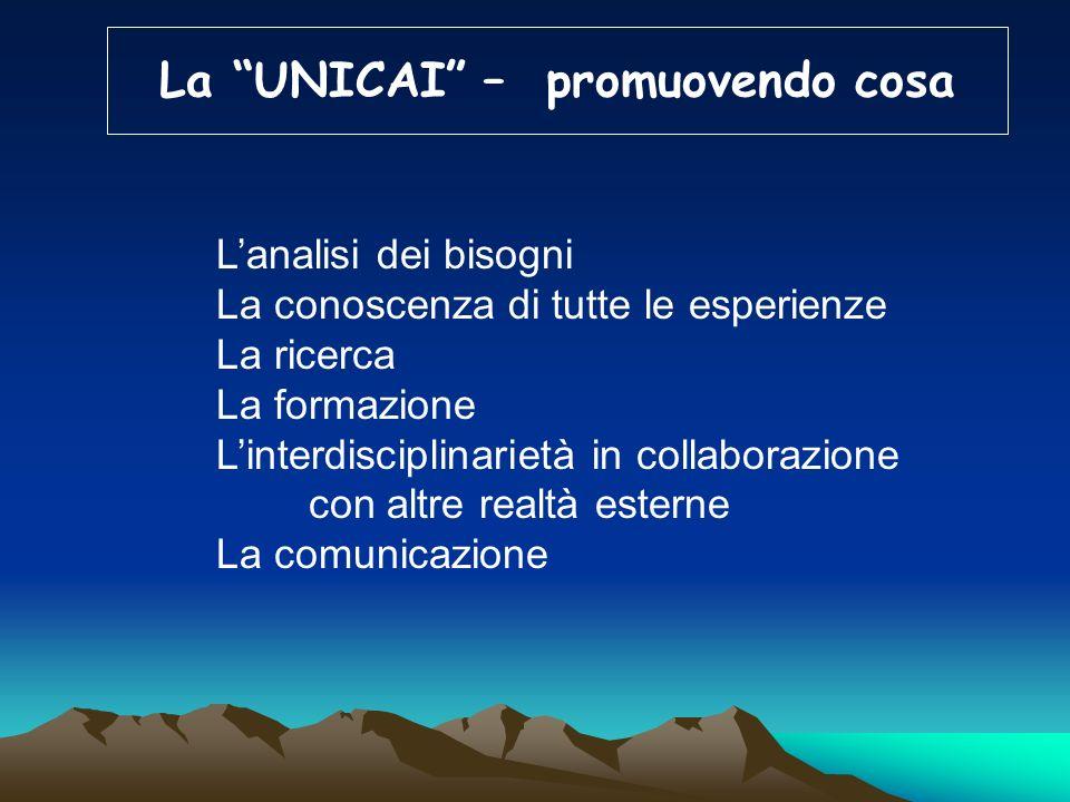 La UNICAI – promuovendo cosa