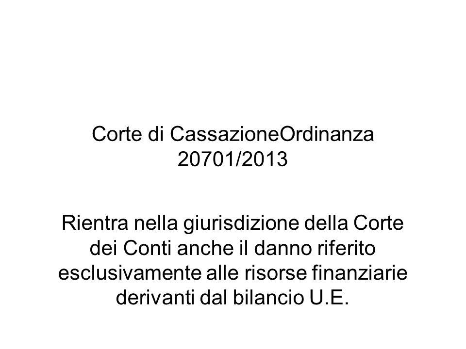 Corte di CassazioneOrdinanza 20701/2013